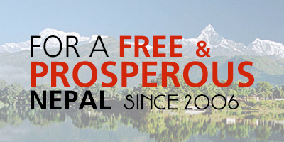 For a free & prosperous Nepal since 2006