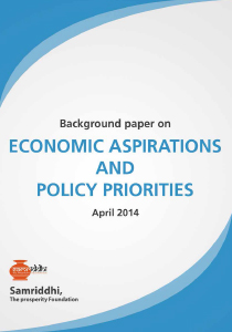 Economic Aspirations and Policy Priorities